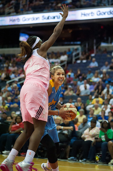 WNBA Basketball 2013: Chicago Sky defeats Washington Mystics 93-79