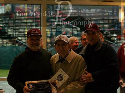 Tom Dominic, left, Harold Bellis, center, and Harold's son Jim, right.