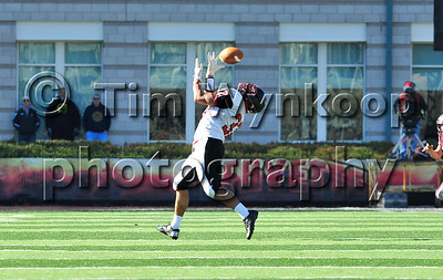 11/22/2012, Easton, PA: Easton's Austin Brown catches a pass in the first half. Phillipsburg vs Easton at Lafayette College's Fisher Field. First half.|