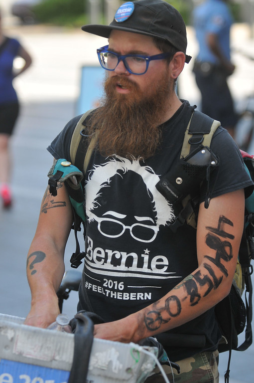. A week of protests, rallies and demonstrations began in Philadelphia ahead of the Democratic National Convention with thousands marching around City Hall and down Market Street Sunday.  PETE BANNAN-DIGITAL FIRST MEDIA