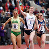 ROBERT GURECKI   -   DIGITAL FIRST MEDIA.<br /> Villanova's Angel Piccirillo waves the baton in victory in the  4x1500 Championship of America Invitational at the Penn Relays.
