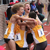ROBERT GURECKI   -   DIGITAL FIRST MEDIA.<br /> LaSalle Valley celebrates winsning the HSB Distance Medley COA at the Penn Relays.