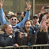 PETE  BANNAN-DIGITAL FIRST MEDIA        Villanova fans enjoy the parade on Market St. in celebration of the 2018 National Championship Thursday.