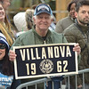 PETE  BANNAN-DIGITAL FIRST MEDIA        Villanova class of 1962 Ed Barron of Thornton, Delaware County enjoys the parade down Market St.  in celebration of the 2018 National Championship Thursday.