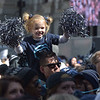 PETE  BANNAN-DIGITAL FIRST MEDIA      Fiona Fahy,3, cousin of Villanova freshman player Collin Gillespie enjoys the 2018 National Championship celebration at City Hall Thursday.