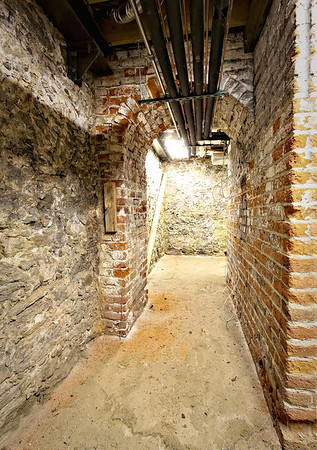 Hidden cellar area where slaves were concealed during the underground railroad period - at the Belmont Mansion in Philadelphia.
