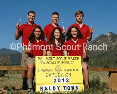 Baldy Town staff photo Front: Amanda Youmans_Regina Engle_Joelle Jach Back: David Steedman_Chris Trepky_Zach Brand  AL GERMANN