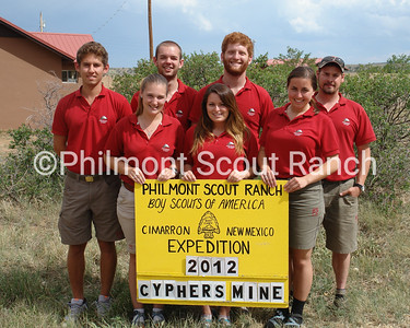 2012 Cyphers Mine Staff: Brianna Howland, Brittany Trione, Carly Ficke, Matthew Potter, Brian McArdle, Andrew, and Jimmy Lowe.