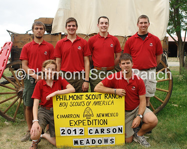 Carson Meadows Staff Photo Front: Caroline Davis_Brad Creighton Back: Corey Mullins_Frank Frantz_Carl Garrett_Roderick Bergman  AL GERMANN