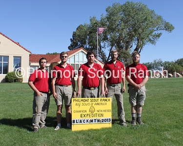 Black Mountain Staff 2013  (Left to Right) Jason Windsor, Cory Ciepiela, Reid Shortridge, Evan Withrow, and David Scrivener.