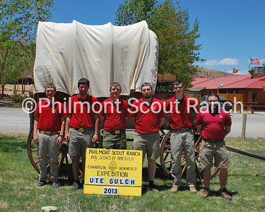 Ute Gulch Staff 2013:  (L to R): Quintin Jennings, Sam McGrath, Blake Jones, Nathaniel Henry, Aaron Murray, Wesley Clark