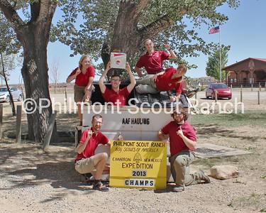 Fish Camp Staff (Left to Right): Taylor Spaeth, Scott Hamilton, Patrick Navin, Taylor Kurtz, Brooke Jackson, Nathan Wright