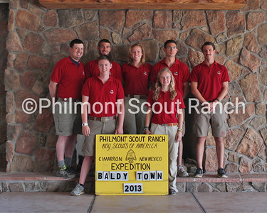 Baldy Town Staff  Back Row (L to R): Clifford Eade, Garrett Rappazzo, Alli Dietz, Kyle Ross, and Jeremy Evans  Front Row (L to R): Kyle Campbell, and Ellen Wright