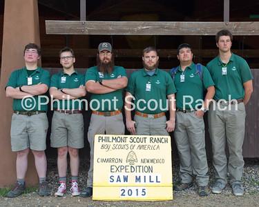 Right to left: Carter Smith, Shane Boice, Matt Alexander, Pete Scifres, Blake Watson, Ben Fox