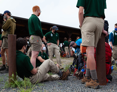 Rangers prepare to depart for the backcountry of Philmont on May 30, 2021.