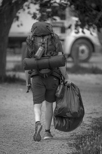 Ranger heading to their tent after getting geared up for the summer season on May 28th, 2021.