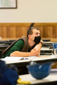 Conservation Staff Member focused during a safety training on equipment and gear for them to use for the summer season on May 28th, 2021.