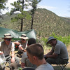 Philmont-Day 4 (Ponil) : Hiking over Hart's peak into the Ponil canyon- Cantina, chuckwagon, and more