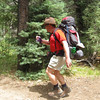 Philmont-Day 8 (Sawmill) : Long climb up to Sawmill, but 30-06 reloading and hot showers at the end