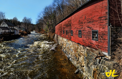 """Warehouse - River"" Wilton, New Hampshire after the floods..."