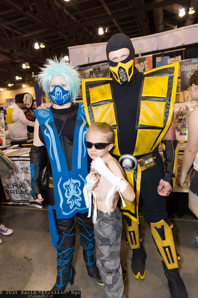 Frost, Johnny Cage, and Scorpion