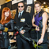 Black Widow, Agent Phil Coulson, and Hawkeye