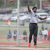 Phoenix special photo by Von Castor<br /> Muskogee's Mike Edwards took second in the discus at the Reasor's Track Classic in Tahlequah on Friday.