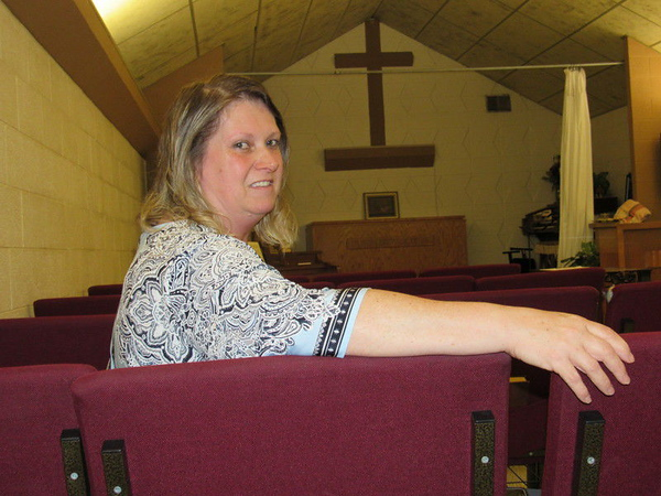 CATHY SPAULDING/Muskogee Phoenix<br /> Gospel Rescue Mission women's director Sandy Coe said the faith-based recovery program Celebrate Recovery helped her overcome issues that led to drug problems. She now helps women overcome theirs.