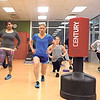 MIKE ELSWICK/Muskogee Phoenix<br /> Stretching and warming up are important parts of starting to get the body pumped up for a heart rate rising workout, said Clint Thomas, instructor for boxing cardio circuit training offered at the City of Muskogee Swim and Fitness Center.