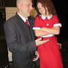 "CATHY SPAULDING/Muskogee Phoenix<br /> Depression-era billionaire Oliver Warbucks (Lucas Foster) takes orphan Annie (Evy Claire Mitchell) into his mansion and life in the musical ""Annie."""