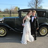 CATHY SPAULDING/Muskogee Phoenix<br /> Oklahoma School for the Blind students Preston Fenton and Kinzie Peters stand by a 1930 Ford Model A before riding in the car to their prom Wednesday night.