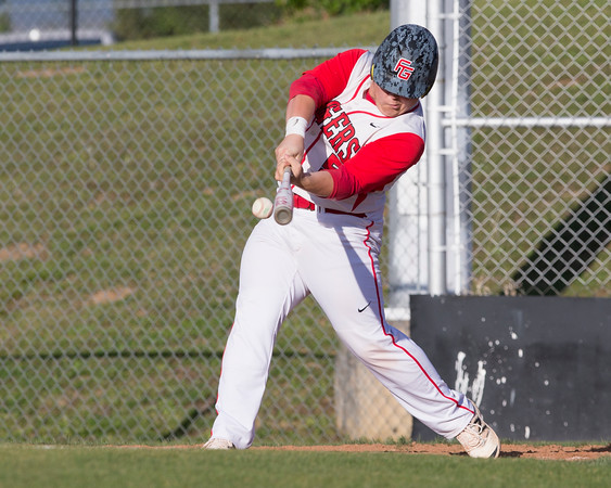 Special photo by Von Castor<br /> Fort Gibson designated hitter Caleb Beshears gets the game-winning hit in the bottom of the seventh inning to lift the Tigers over the Longhorns of Inola, 4-3.