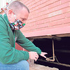 CATHY SPAULDING/Muskogee Phoenix<br /> Muskogee Public Schools Chief Operating Officer Eric Wells shows a crawl space under Whittier Elementary.