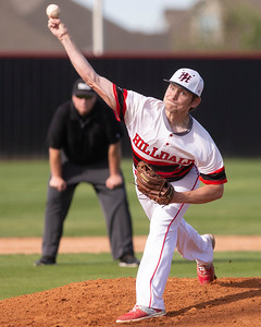 VON CASTOR/Phoenix Special Photo Hilldale pitcher Logan Goss rocks and fires against Stigler on Monday at Hornet Field.