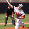 VON CASTOR/Phoenix Special Photo<br /> Hilldale pitcher Logan Goss rocks and fires against Stigler on Monday at Hornet Field.