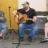 CATHY SPAULDING/Muskogee Phoenix<br /> Bandmates, from left, Jerry Owens, Billy Arnett and Jeremy Hayes play for a hometown crowd at Q.B. Boydstun Library.