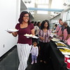 KENTON BROOKS/Muskogee Phoenix<br /> Muskogee High School senior Raylynn Thompson walks back to her table at Tuesday's Rougher 300 Banquet at Three Forks Harbor. Thompson, along with Taylor Myers, Luster Harris and Jalen Harris, were the top two girls and boys recognized at the banquet for their volunteer work in the community.