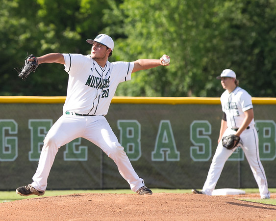 Phoenix special photo by Shane Keeter<br /> Muskogee's Fletcher Kinsey fires a pitch Tuesday.