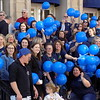 """MIKE ELSWICK/Muskogee Phoenix<br /> The steps of the Muskogee County Courthouse were filled with courthouse workers and people from area agencies involved in helping prevent child abuse during National Child Abuse Awareness Month for a balloon release. District Attorney Orvil Loge said there are a number of agencies in Muskogee County focused on preventing child abuse and in serving victims when abuse does occur. """"We work every day to protect children,"""" he said of law enforcement, social service agencies and health care providers."""