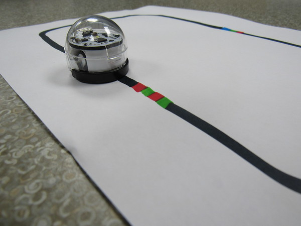"""An Ozobot can """"read"""" colored markings and help students learn computer coding. A Fort Gibson Education Foundation grant helped the Early Learning Center and Intermediate School librarian buy sets."""