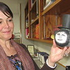 CATHY SPAULDING/Muskogee Phoenix<br /> Fort Gibson Advanced Placement teacher Cassandra Edwards holds a Lincoln-themed ornament a student made in class. Edwards was recently as District Teacher of the Year.