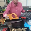 Robert Raley keeps extra saw handles of various types on hand when he restores handsaws.