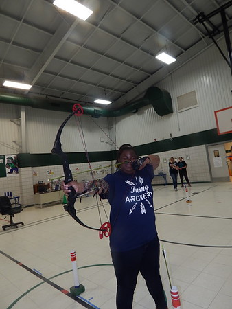 KENTON BROOKS/Muskogee Phoenix<br /> Zameera Thomas, a fifth-grader at Irving Elementary School, practices in preparation for the May 10-12<br /> national tournament in Louisville, Kentucky.