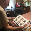 CHESLEY OXENDINE/Muskogee Phoenix<br /> William Freeman shows some of the pictures of him and his wife arranged by a friend in honor of the couple's 75th wedding anniversary.