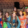 "Staff photo by Cathy Spaulding<br /> Princess Winnifred the Woebegone (Alexandria McBrien, third from<br /> left), sings about how shy she is in the Hilldale High School musical<br /> ""Once Upon a Mattress."""