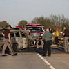 Oklahoma state troopers and first responders investigate a head-on collision on Oklahoma 16, where two are confirmed dead and two are in undetermined condition.