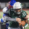 Phoenix special photo by Shane Keeter<br /> Devin Hillmon, righting off a Bixby defender last year, is a returning receiver.