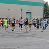 CATHY SPAULDING/Muskogee Phoenix<br /> Members of Muskogee High School's Pride of Muskogee band drill in a school parking lot. They have practiced marching and music for the past two weeks.