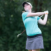 Phoenix special photo by Von Castor<br /> Shelby McGlothlin tees off on the 17th hole at Muskogee Golf and Country Club on Tuesday during second-round action of the South Central Junior PGA event there.