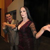"CATHY SPAULDING/Muskogee Phoenix<br /> Gomez Addams (Seth Arnold) woos his wife Morticia (Andrea Wilxoxen) in the upcoming Muskogee Little Theatre production ""The Addams Family."""